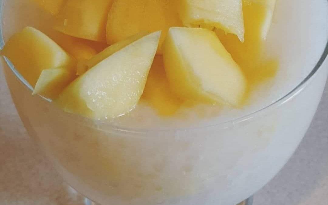 Tajski pudding z tapioki i mleczka kokosowego